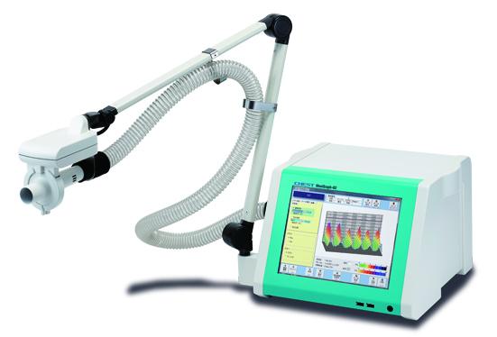 モストグラフィー(総合呼吸抵抗測定装置MostGraph-02)