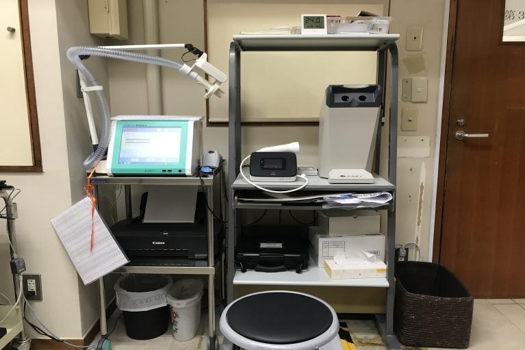 呼吸機能測定コーナー