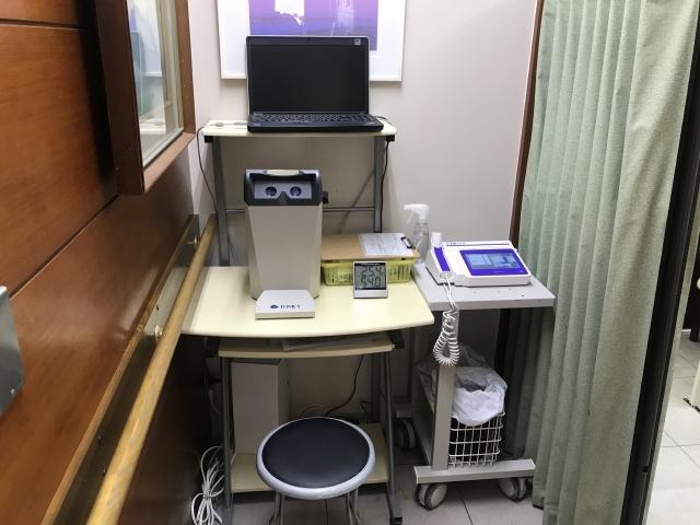 視力、肺機能検査